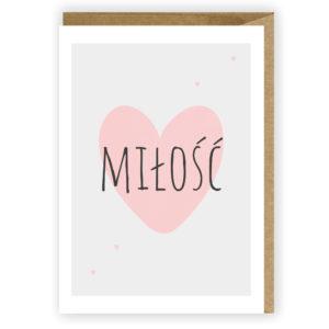 Kartka miłosna Miłość kartka dla zakochanych