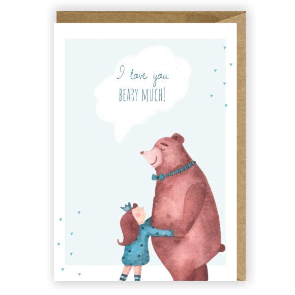 Kartka miłosna dla zakochanych miś 1