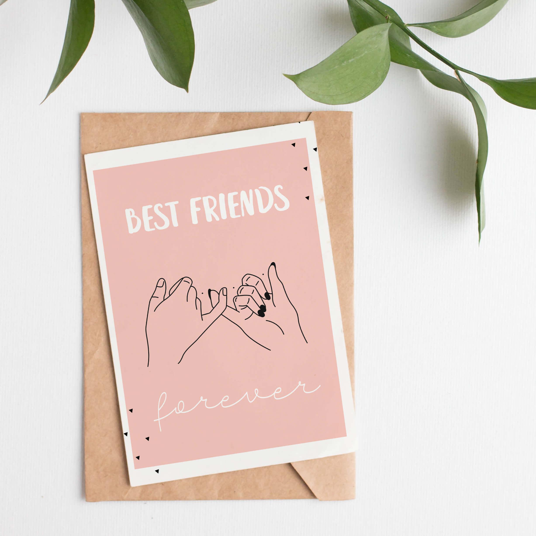 Kartka przyjaźni Pinky Promise