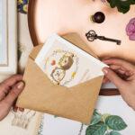 Kartka ślubna jeżyki nowożeńcy 1