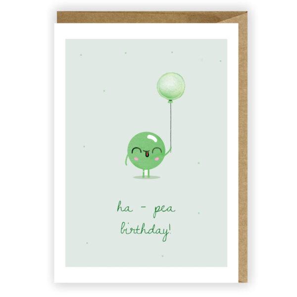 Kartka urodzinowa groszek