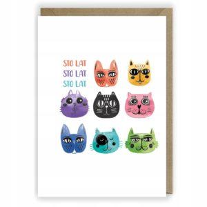 Kartka urodzinowa koty