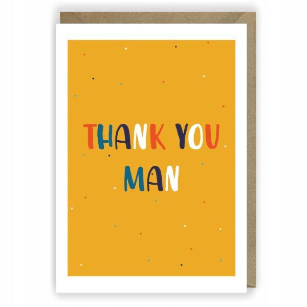 Kartka z podziękowaniem Thank you man 1