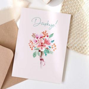 Kartka okolicznościowa z podziękowaniem dziękuję kwiaty1